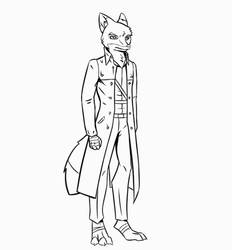 Ren animation line work (GIF) by Lock-wolfe