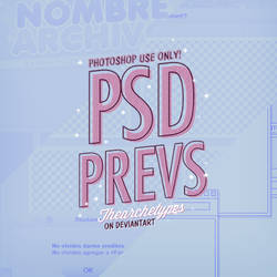PREVIEWS // PSD FILE by Thearchetypes