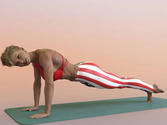 Eva leg lift exercise: gif by DahriAlGhul
