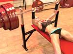 Girl benchpresses 270 kg (.gif video 2)