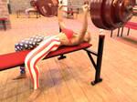 Eva benchpresses 270kg: .gif video