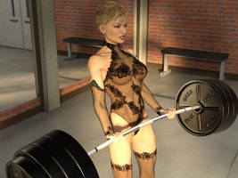 Sexy barbell curls: gif 4 by DahriAlGhul