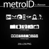 MetroID Icons (White No BG) by JRawson by JRawson