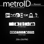 MetroID Icons (White No BG) by JRawson