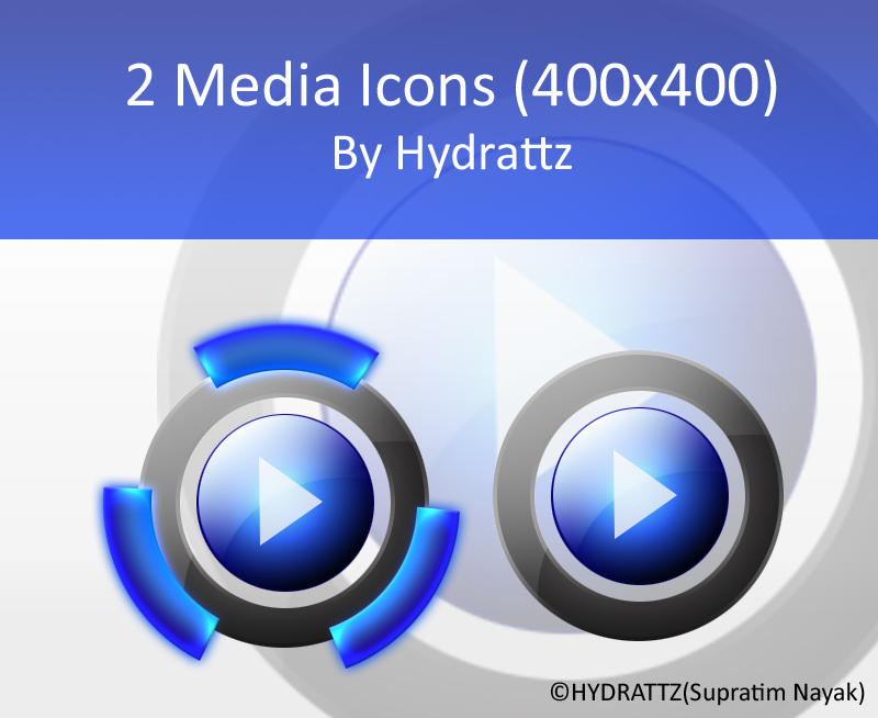Media Icons by HYDRATTZ