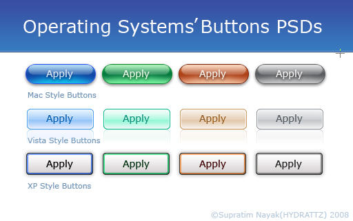 Operating Systems Buttons PSDs