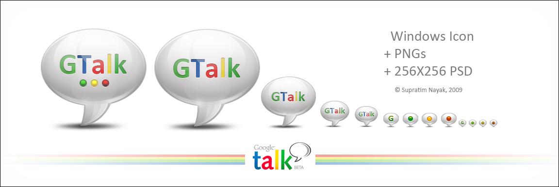 Google Talk Icon+ PNGs+ PSD by HYDRATTZ