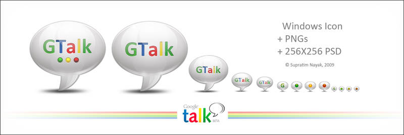 Google Talk Icon+ PNGs+ PSD