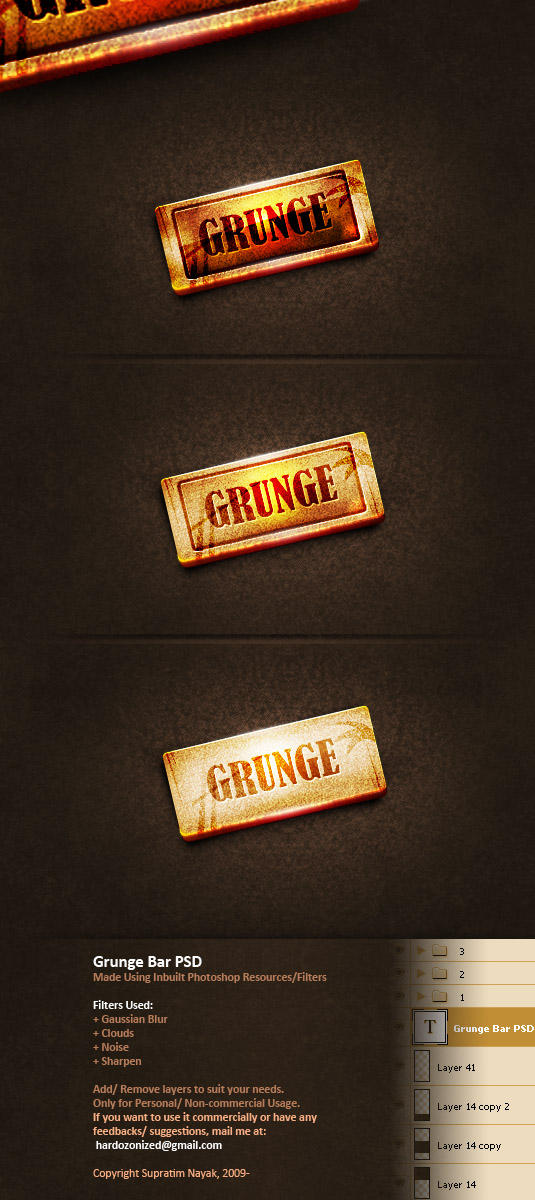 Grunge Bar PSD by HYDRATTZ