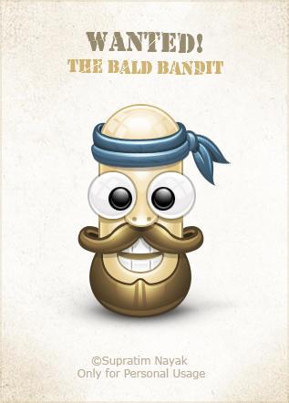 The Bald Bandit by HYDRATTZ