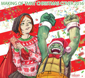 Making of TMNT#Christmas cover