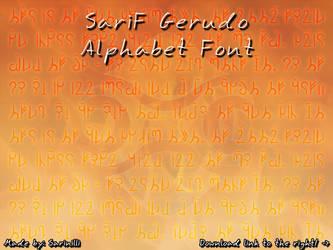 SariF Gerudo Alphabet Font by Sarinilli