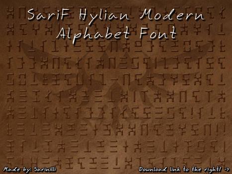 SariF Hylian Modern Alphabet Font