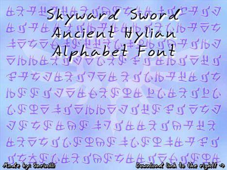 Skyward Sword Ancient Hylian - Font