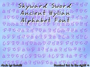 Skyward Sword Ancient Hylian - Font