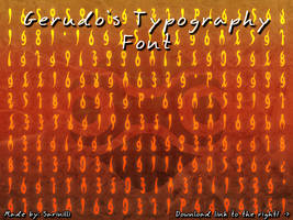Gerudo Typography - Font by Sarinilli