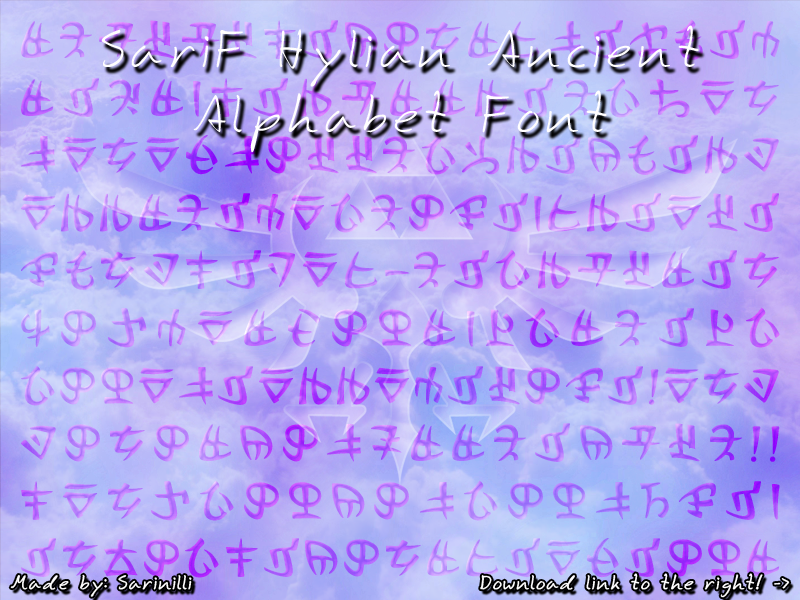 SariF Hylian Ancient Alphabet Font