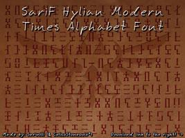 SariF Hylian Modern Times Alphabet Font by Sarinilli