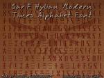 SariF Hylian Modern Times Alphabet Font