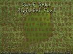 SariF Deku Alphabet Font