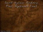 SariF Hylian Modern Pixel Alphabet Font