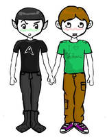Kirk and Spock Dress Up Game by magicalemmaxo