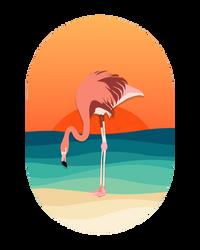 Minimalist Flamingo