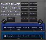 Simple black dock icons