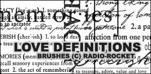 Love Definitions Brushes by radio-rocket