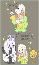Asriel And The Asriels by Mutil8tor