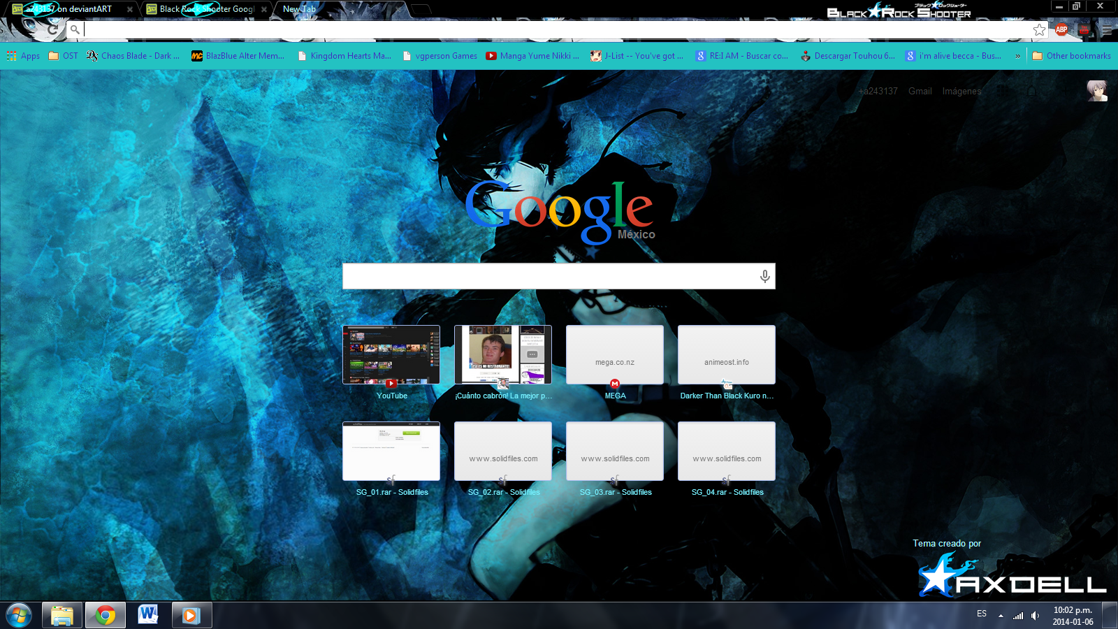 Google themes black