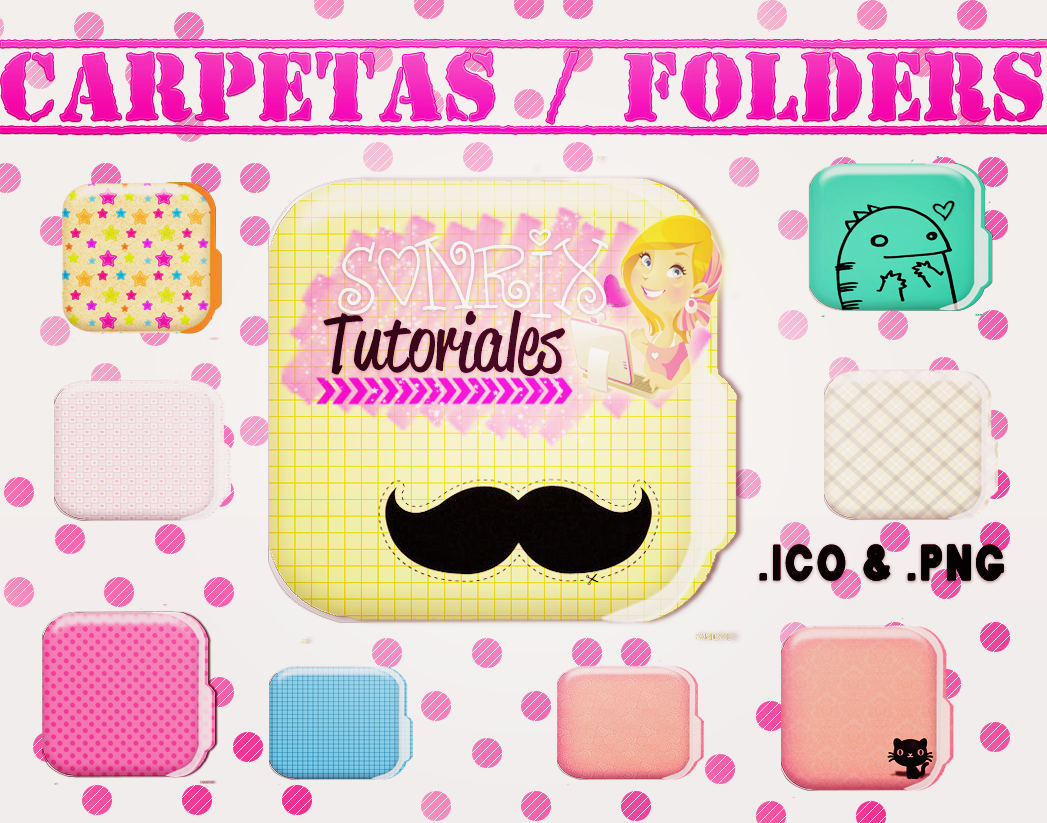 Folders / Carpetas png by a-Sonrix