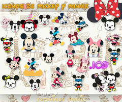 Iconos de Mickey y Minnie Mouse .ico