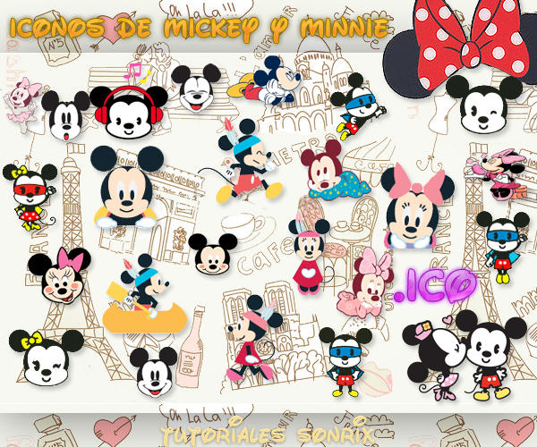 Iconos de Mickey y Minnie Mouse .ico by a-Sonrix