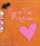 Skin Social Panel Pink Glass for Rainmeter