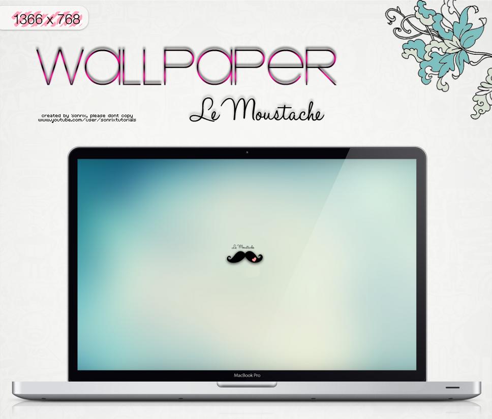 Wallpaper Le Moustache by a-Sonrix