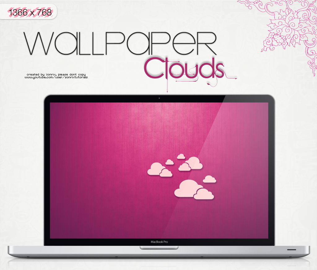 Wallpaper Clouds (edited in fuschia) by a-Sonrix