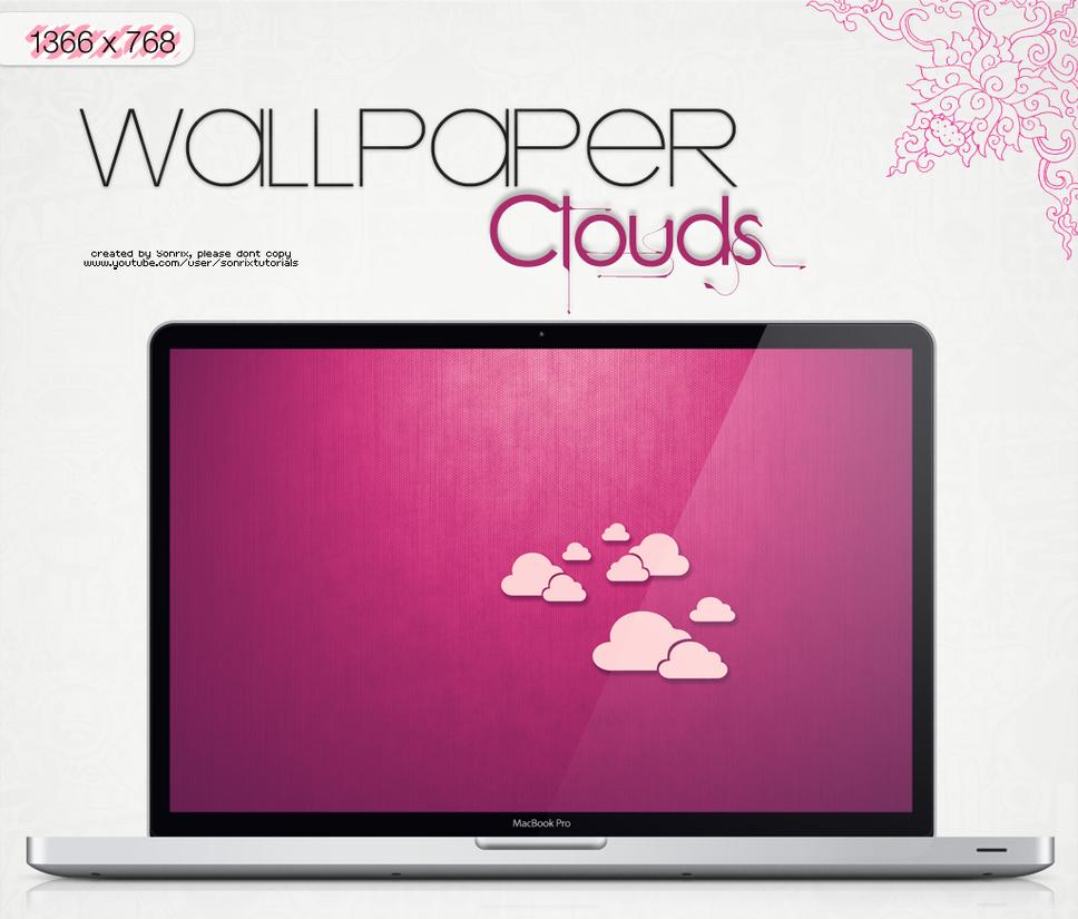 Wallpaper Clouds (edited in fuschia) by a-Sonrix