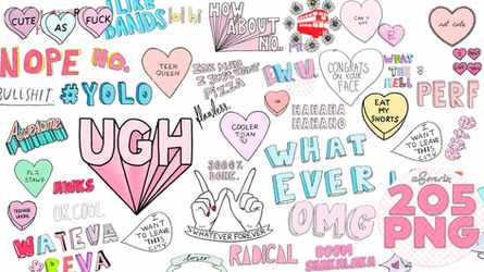 205 Random Overlays png  tipo tumblr.