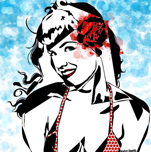 A little Red Polka Dot Bikini by Kyowell