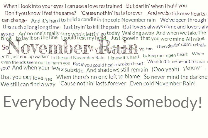 Songtext von Guns N' Roses - November Rain Lyrics