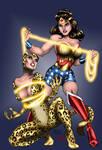 Golden Age Cheetah Vs. Wonder Woman (Brown Hair)
