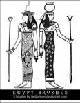 EGYPT BRUSHES stamps