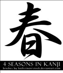 Kanji Seasons Brushes by faelivrinen-stock