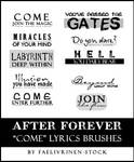 After Forever - COME - Brushes