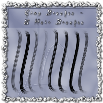 GIMP - 8 Hairbrushes by el-L-eN