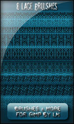 8 Lace Brushes for GIMP by el-L-eN