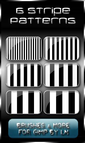 6 Stripey Patterns for GIMP by el-L-eN