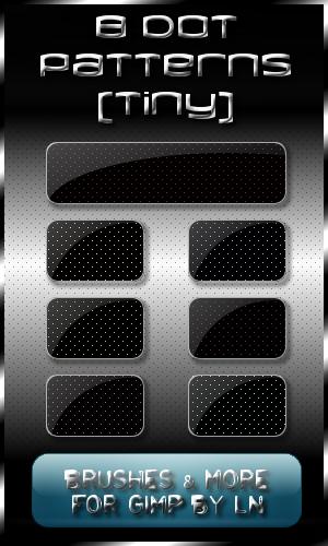 8 Dot Patterns -tiny- for GIMP by el-L-eN