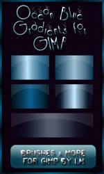 5 OceanBlue Gradients for GIMP
